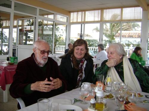 José Luis Sampedro, Olga Lucas y Carmen Balcells