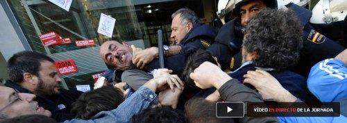 Piquetes y policía. Santander