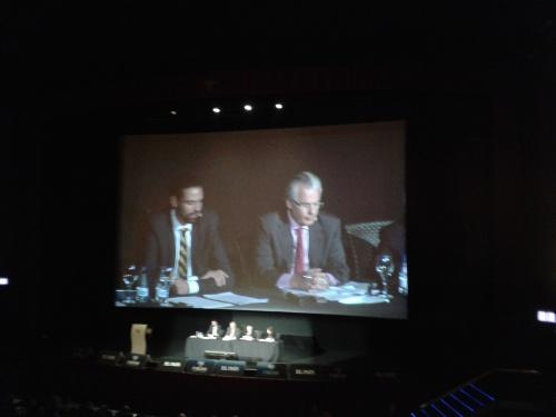 Baltasar Garzón, Presidente de la fundación Fibgar, y Paolo Abrao de Brasil