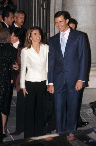 Letizia y Felipe en su primera aparición pública  juntos