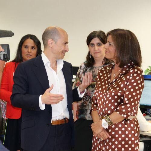 La alcaldesa de Madrid, Ana Botella, con Jenaro García, consejero delegado de la fraudulenta Gowex