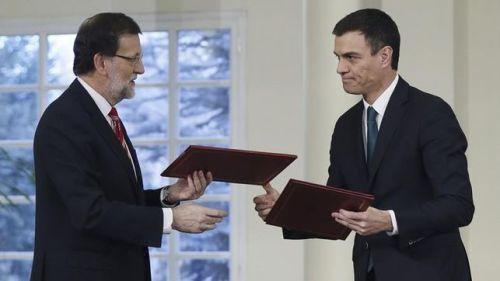 Rajoy y Sánches firman el que llaman Pacto Antiterrorista