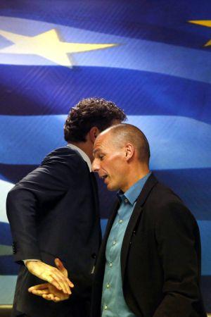 El Ministro griego Varoufakis y el Presidente del Eurogrupo Dijsselbloem