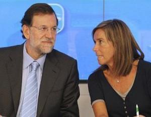 Mariano Rajoy y Ana Mato, ex ministra de Sanidad