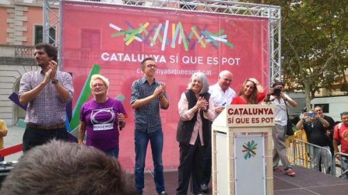 Mitin en Casteldefels de Catalunya Sí es Pot